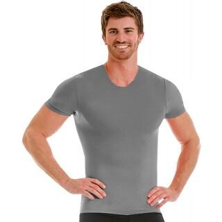 Insta Slim Pro Active Wear Crewneck Compression Under Shirt - Forza Gray