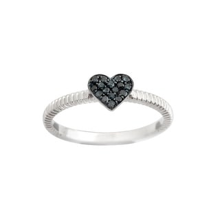 Brand New Round Brilliant Cut Blue Diamond Heart Shaped Valentine Ring