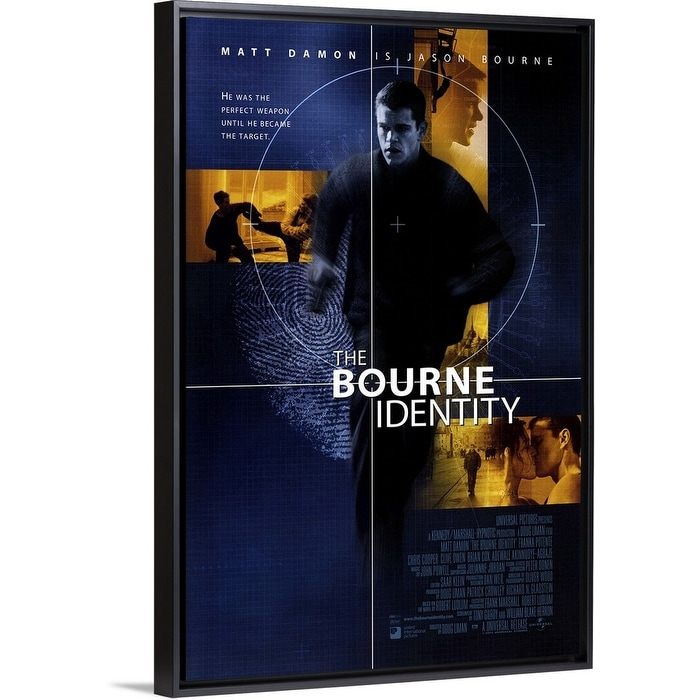 Shop The Bourne Identity 2002 Black Float Frame Canvas Art Overstock 25502546