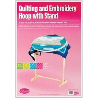 Wood Hoop & Floor Stand