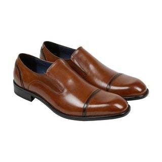 Kenneth Cole Take A Hint Mens Brown Leather Casual Dress Slip On Loafers Shoes