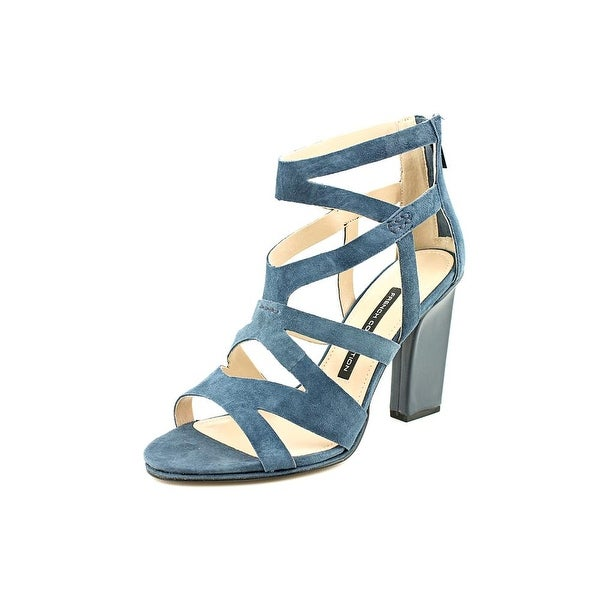 French Connection Isla Women Open Toe Suede Blue Sandals