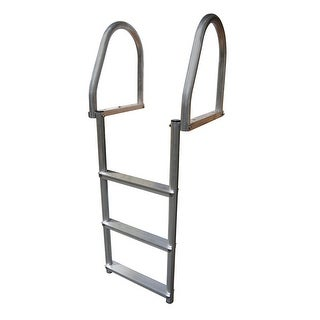 Dock Edge Aluminum 3 Step Eco Flip Up Dock Ladder Weld Free