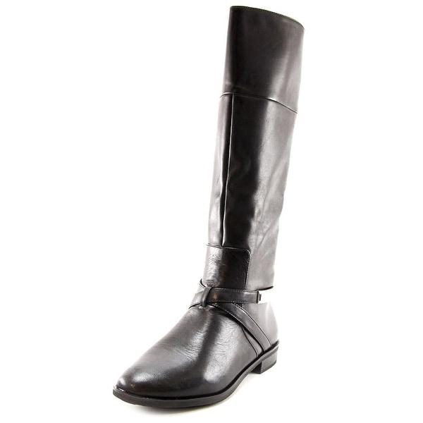 Alfani Egila Women  Round Toe Leather Black Knee High Boot