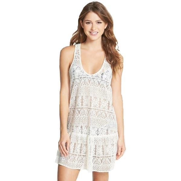 Zinke Women's Swimsuit Cover-up Gemma Lace Dress, Large, Ivory - Overstock  - 28596837