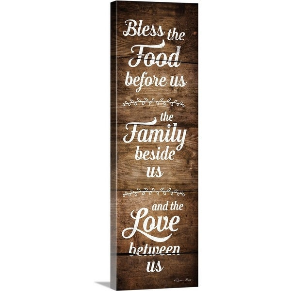 """""""Bless the Food Before Us"""" Canvas Wall Art"""