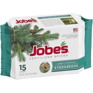 Jobes 01611 Evergreen Fertilizer Spikes, 13-3-4