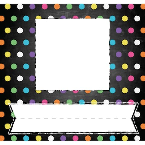 Chalkboard/Dots Picture Plates, Pack of 32 - One Size