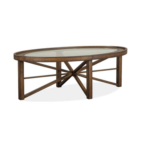 Kirkpatrick Oval Cocktail Table