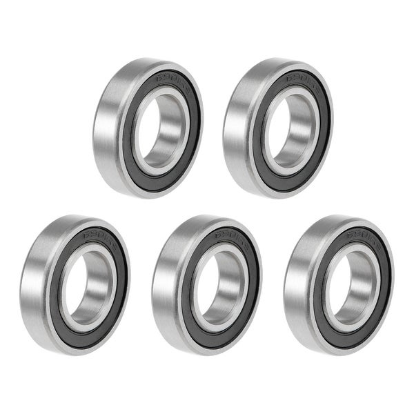 6901-2RS Deep Groove Ball Bearings Z2 12x24x6mm Double Sealed Carbon Steel 5pcs