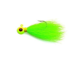 Eagle Claw Bucktail Jig 3/8 4ct Chartreuse