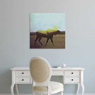 Easy Art Prints Andreas Lie's 'Moose' Premium Canvas Art