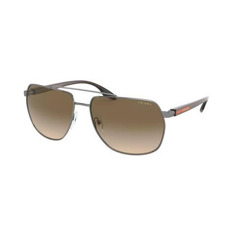 Prada Linea Rossa PS 55VS 5AV1X1 59 Gunmetal Man Irregular Sunglasses