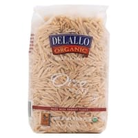 Delallo Organic Whole Wheat Orzo Pasta - Case of 16 - 16 oz.