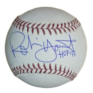 Robin Yount Autographed OML Milwaukee Brewers Baseball WHOF 99