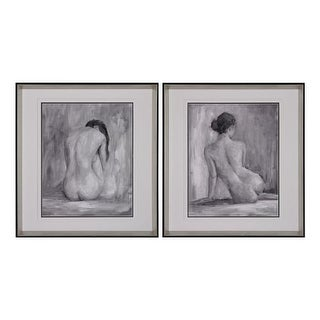 "Sterling Industries 151-001/S2 27"" x 25"" Art Prints - Figure In Black and White I and II - Set of Two - N/A"