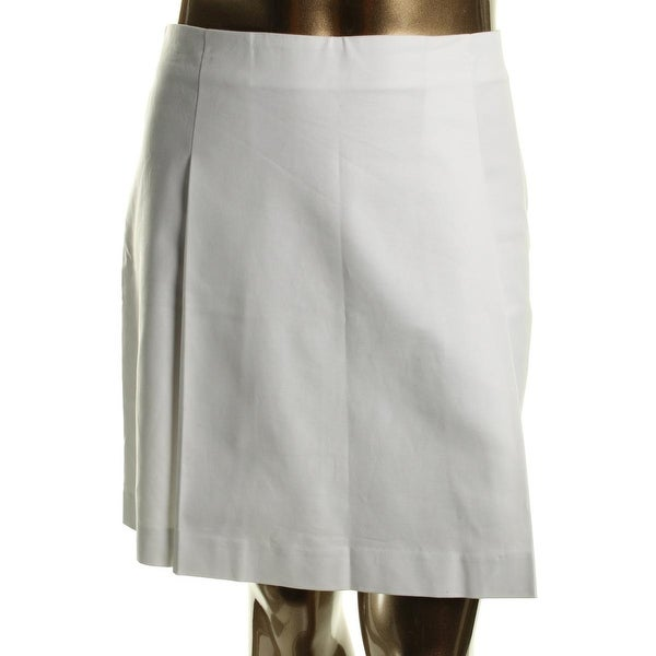 Lauren Ralph Lauren Womens Pleated Skirt Stretch Pleated