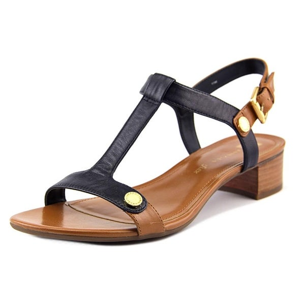 Anne Klein Ebber Women Open-Toe Leather Blue Slingback Sandal