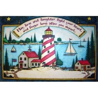 Custom Printed Rugs CPR029 Light House Doormat Rug - 18 x 30 in.
