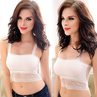Link to Women Fashion Lace Butterfly Crop Top Vest Camisole Bra Sexy Stretchy Tank Top Similar Items in Intimates