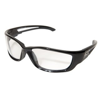 Edge Eyewear SK-XL111 Safety Glasses With Black Frame, Clear Lens