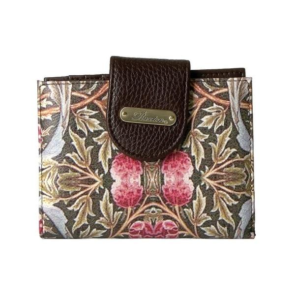 Buxton Womens Art Nouveau Lexgton Organizer Wallet Faux Leather Framed - o/s