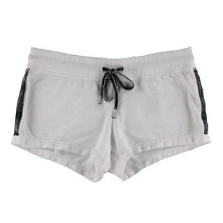 Guess Womens Juniors Casual Shorts Fleece Graphic - S