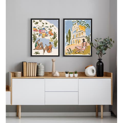 Kate and Laurel Sylvie Rivera Framed Canvas by Maggie Stephenson