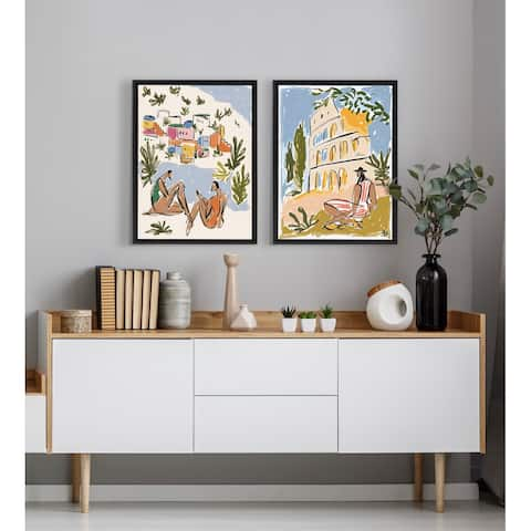 Kate and Laurel Sylvie When in Rome Framed Canvas by Maggie Stephenson