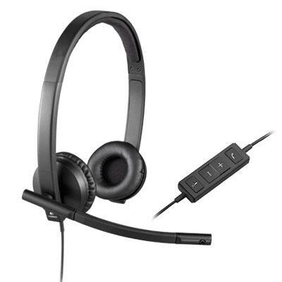 Logitech 097855107978 Usb H570e Corded Double-Ear Headset (981-000574)