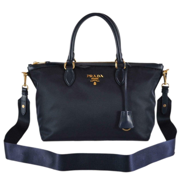 46c524a8a46 Shop Prada 1BA104 Borsa A Mano Blue Nylon 2-Way Zip Purse Handbag Bag -  Free Shipping Today - Overstock - 27457036