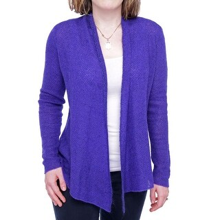 Eileen Fisher Long Sleeve Drape Neck Cardigan Women Regular Sweater
