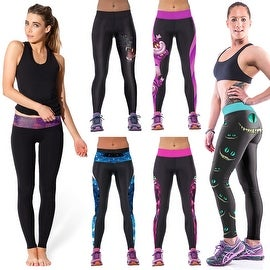 New Women's Printed Gym Running Yoga Pants High Rise Stretch Leggings Sweatpants Winter Trousers