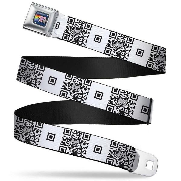 Nyan Cat Blue Full Color Nyan Cat Qr Code White Black Webbing Seatbelt Belt Seatbelt Belt