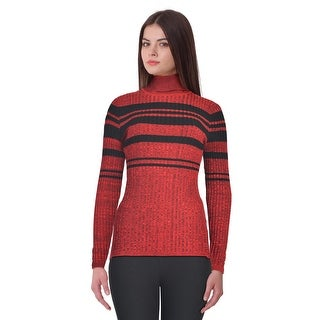 Style & Co Striped Ribbed Long Sleeve Turtleneck Sweater Top (2 options available)