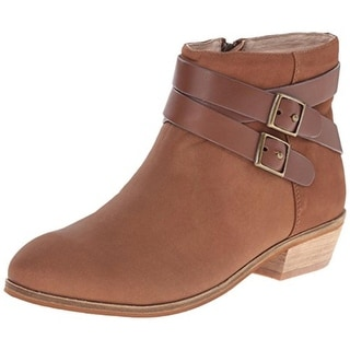 SoftWalk Womens Rancho Leather Booties Ankle Boots