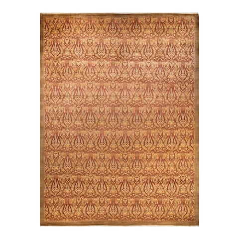 """Mogul, One-of-a-Kind Hand-Knotted Area Rug - Yellow, 10' 4"""" x 14' 0"""" - 10' 4"""" x 14' 0"""""""