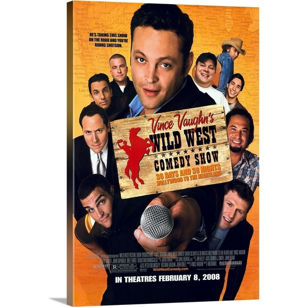 Solid-Faced Canvas Print entitled Vince Vaughn's Wild West Comedy Show - Movie Poster