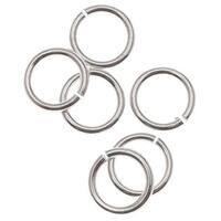 Sterling Silver Open Jump Rings 5mm 21 Gauge (10)