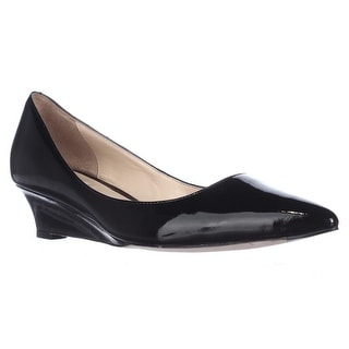 Cole Haan Bradshaw Wedge Pointed-Toe Pumps - Black Patent