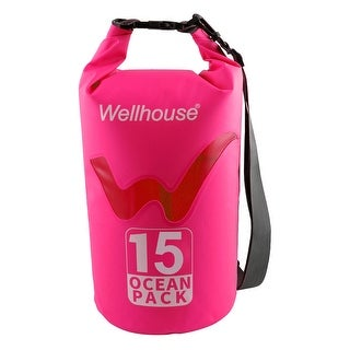 Wellhouse Authorized Underwater Travelling PVC Dry Bag Pouch Backpack Pink 15L