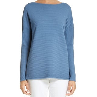 Lafayette York Womens Ribbed Pullover Sweater 088