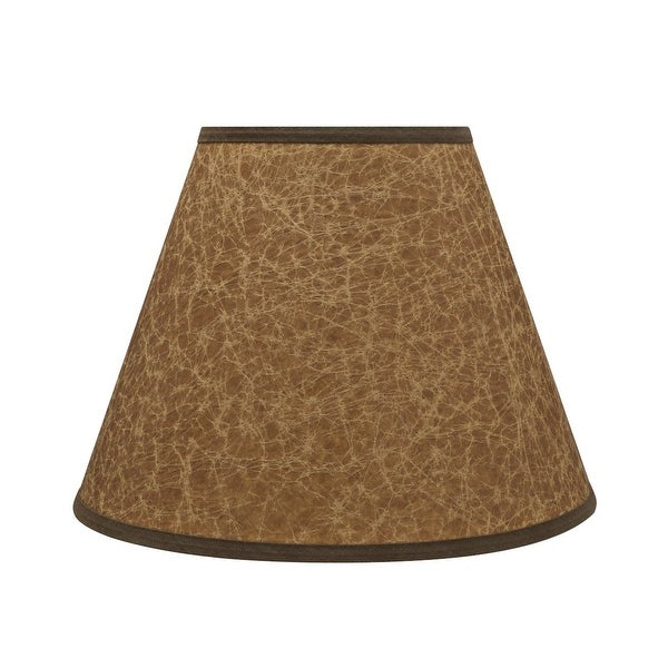 """Aspen Creative Hardback Empire Shaped Spider Construction Lamp Shade in Dark Brown (6"""" x 12"""" x 9""""). Opens flyout."""