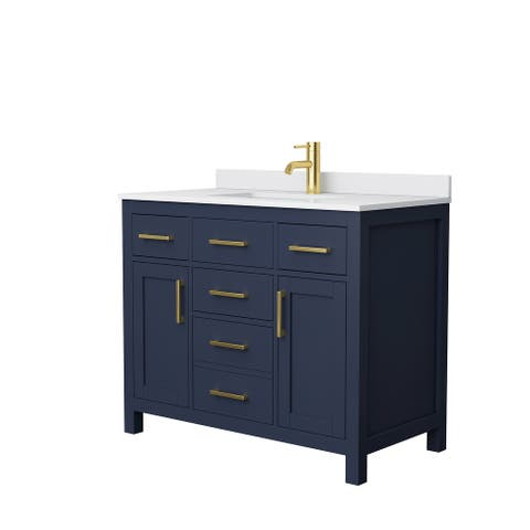 Beckett 42 Inch Single Vanity, Cultured Marble Top