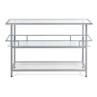 Offex Portico Bar - Chrome/Clear Glass