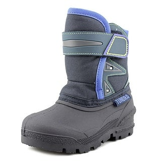 Tundra Oregon Toddler Round Toe Canvas Blue Snow Boot