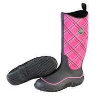 Muck Boots Black/Pink Plaid Women's Hale Boot - Size 9