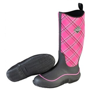 Muck Boots Black/Pink Plaid Women's Hale Boot - Size 9