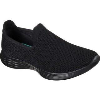 Skechers Women's YOU Zen Slip-On Sneaker Black