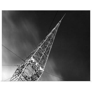 """1930's Wlw Radio Aerial Antenna Cincinnati Ohio USA"" Poster Print"